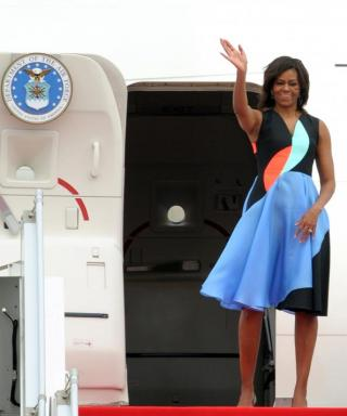 Michelle Obama Stuns in Geometric Prints on Her Tour of Cambodia