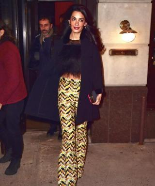 We're Obsessed with Amal Clooney's Zigzag-Print Pants