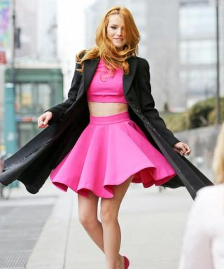 Bella Thorne Channels Her Inner Barbie Doll in Head-to-Toe Hot Pink