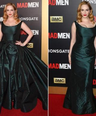Christina Hendricks Tricks Us with Two Dresses (but It's Actually One)