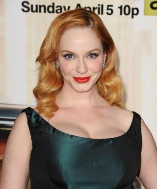 "Christina Hendricks on Going Blonde After 20 Years of Red: ""I'm Loving It"""