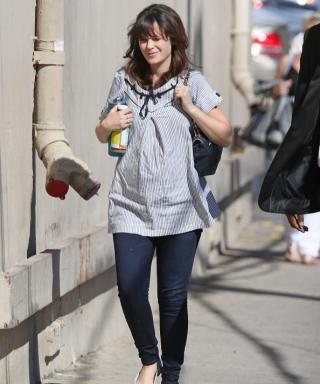 Zooey Deschanel and Her Baby Bump Make Another Rare Appearance