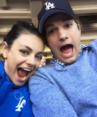 Ashton Kutcher and Mila Kunis Take a Too-Cute MLB Opening Day Selfie
