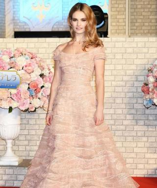 Lily James Brings Back Cinderella on the Red Carpet, and It's Everything