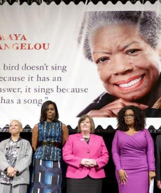 Oprah, Michelle Obama Honor Maya Angelou at Stamp Dedication Ceremony