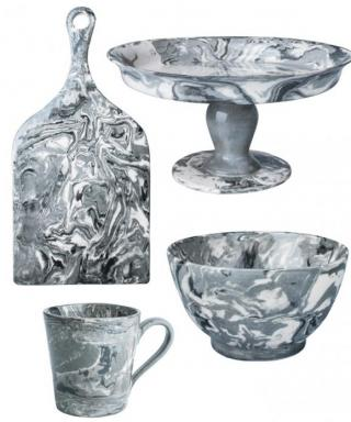 We're Obsessed: Marbled Ceramic Tableware