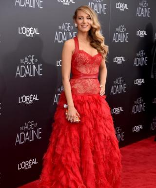 Blake Lively Stuns in Scarlet at The Age of Adaline Premiere