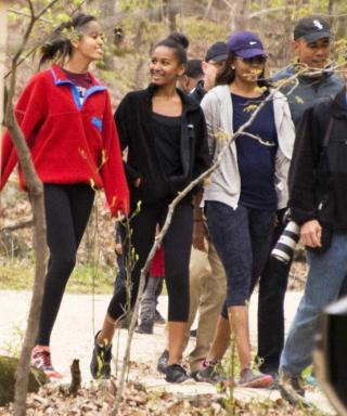The Obamas Look Too Cute on Their National Park Week Family Hike
