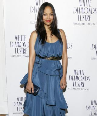 "Zoe Saldana Muses On Fashion Regrets and Leaving Her ""Baby Cave"" for the Oscars This Weekend"