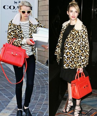 Emma Roberts Found a Coat So Nice That She Wore It Twice