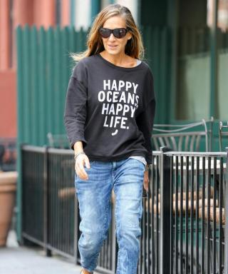 Looking Good While Doing Good: See SJP's Latest Street-Chic Charity Tees