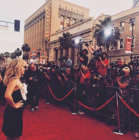 Reese Witherspoon on the red carpet for the Hot Pursuit Premiere