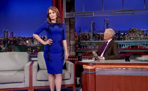Tina Fey on David Letterman