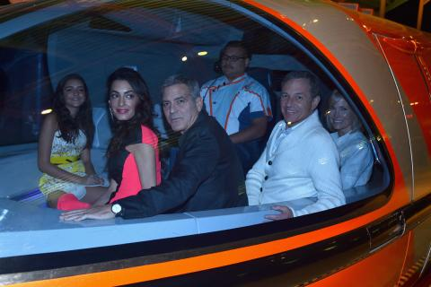 George and Amal Clooney at Tomorrowland Premiere