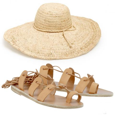 Ancient Greek Sandals and Nordstrom Hat