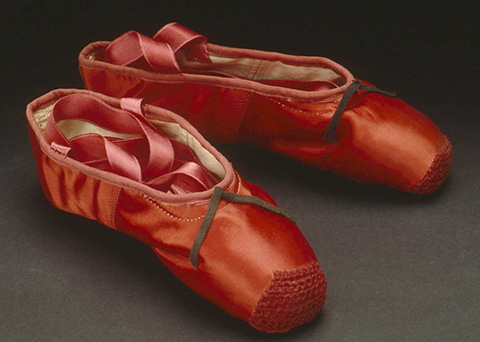 Freed of London ballet shoes for Victoria Page (Moira Shearer) in The Red Shoes
