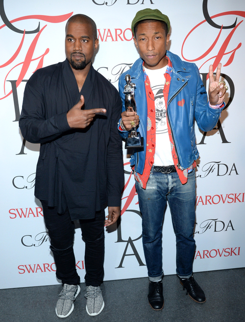 Pharrell Williams and Kanye West