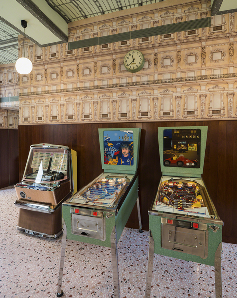 Wes Anderson Bar Luce cafe