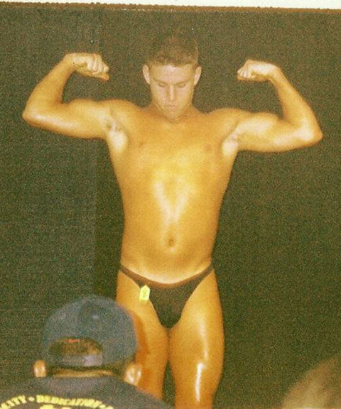 Channing Tatum in a High School Body Building Competition