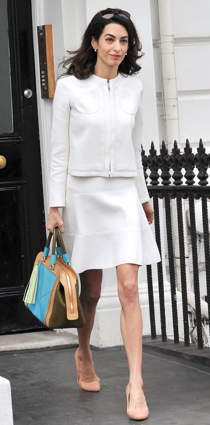 Amal Clooneys Sophisticated Chic Look InStylecom