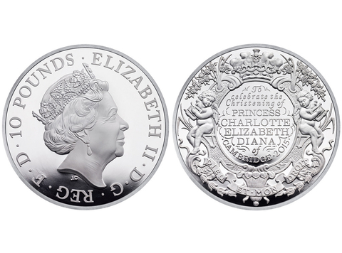 Princess Charlotte Christening Coin - Embed