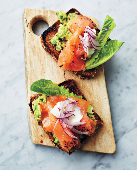 Avocado and Smoked Salmon Tartinettes