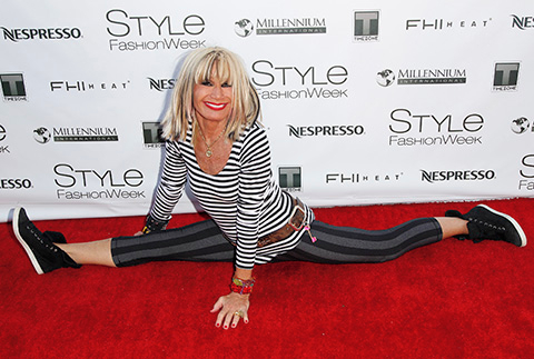 Betsey Johnson attneds 2014 Style Fashion Week