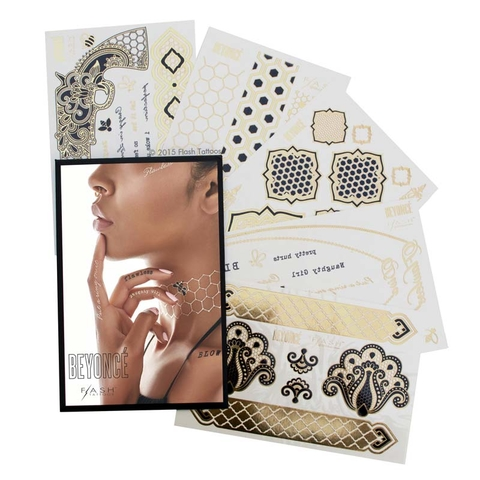 I'm Obsessed Beyonce Flash Tattoos - Embed