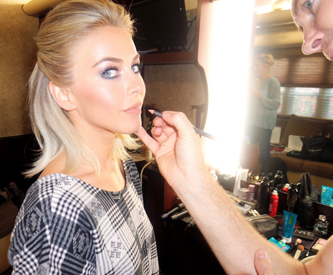 Julianne Hough getting ready for the season 21 of Dancing with the Stars Embed 1