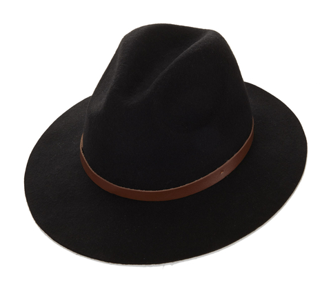 Fedora with Faux Leather Band