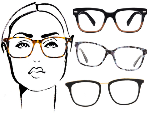 Eyeglass Frames Round Face Shapes : How to Make Geek Chic Look Great According to Your Face ...