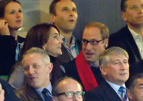 Kate Middleton and Prince William at Rugby World Cup 2015