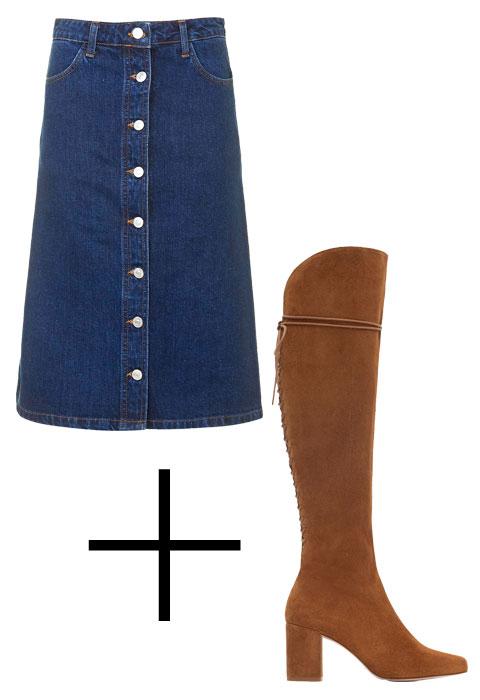 Perfect Pairings: Denim Skirt and Boots - Embed 2