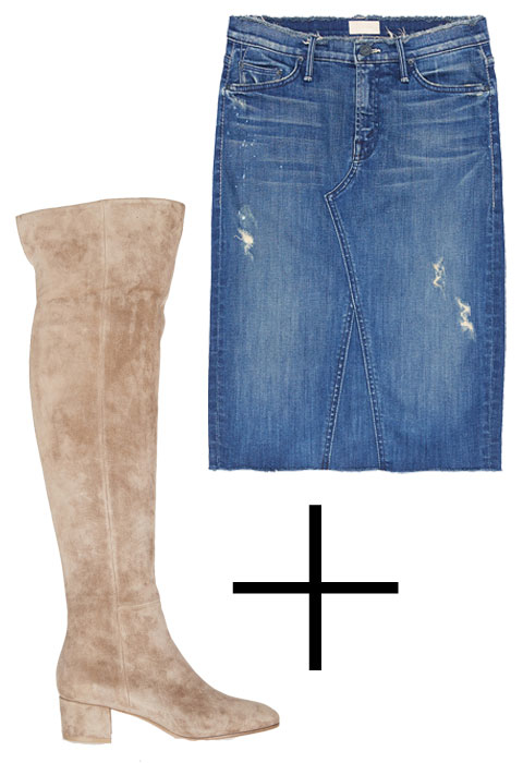 Perfect Pairings: Denim Skirt and Boots - Embed 1