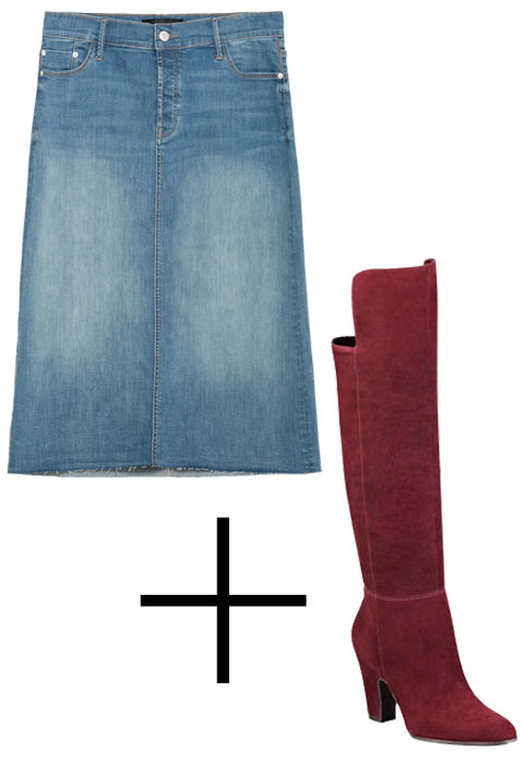 Perfect Pairings: Denim Skirt and Boots - Embed 3