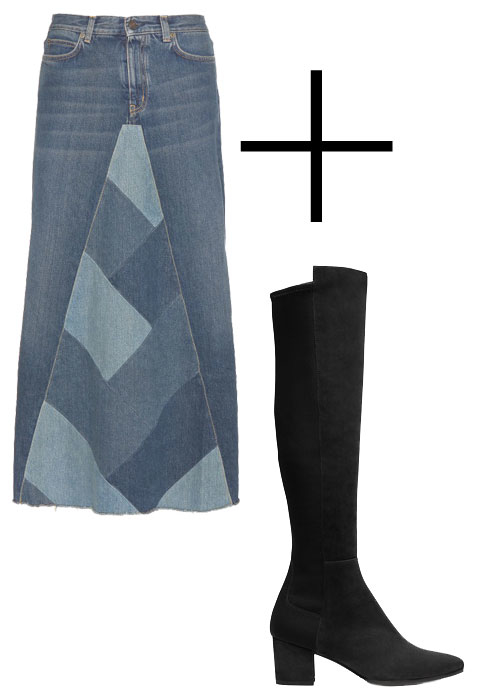 Perfect Pairing: Denim Skirt and Boot - Embed 4