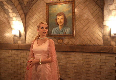 "SCREAM QUEENS: Emma Roberts in the ""Seven Minutes In Hell"" episode of SCREAM QUEENS airing Tuesday, Oct. 20 (9:00-10:00 PM ET/PT) on FOX. ©2015 Fox Broadcasting Co. Cr: Patti Perret/FOX."