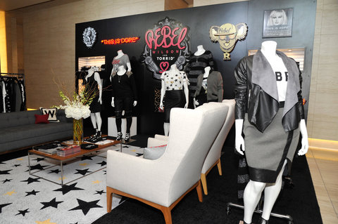 LOS ANGELES, CA - OCTOBER 22:  REBEL WILSON FOR TORRID on display at Tracy Paul & Company presents REBEL WILSON FOR TORRID Launch at Milk Studios on October 22, 2015 in Los Angeles, California.  (Photo by John Sciulli/Getty Images for TORRID)