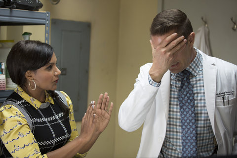 """THE MINDY PROJECT -- """"Mindy & Nanny"""" Episode 407 -- Pictured: (l-r)  -- (Photo by: John Fleenor/NBC)"""
