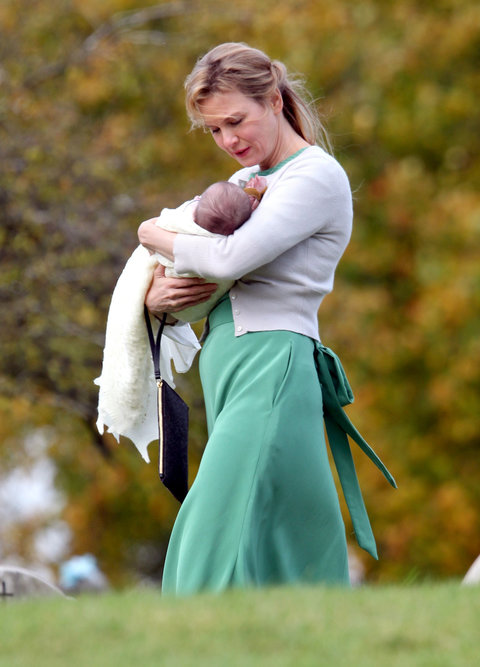 Renee Zellweger And Colin Firth Spotted With Baby On Set