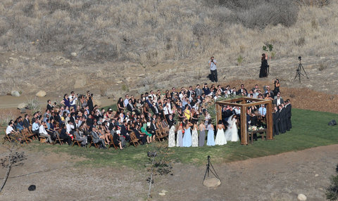 51895085 Actress Jamie Chung and Bryan Greenberg tie the knot on Halloween at El Capitan Canyon in Santa Barbara, California on October 31, 2015. The pair were surrounded by friends and family during the romantic secluded wedding. FameFlynet, Inc - Beverl