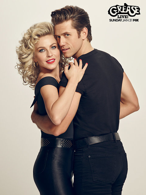 Julianne Hough and Aaron Tveit in GREASE: LIVE airing LIVE Sunday, Jan. 31, 2016