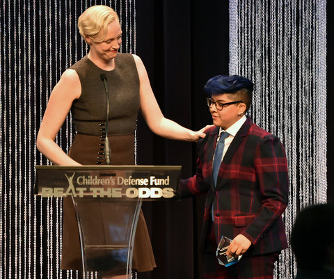 onstage at the 25th Annual Children's Defense Fund Beat The Odds Awards at the Beverly Wilshire Four Seasons Hotel on December 3, 2015 in Beverly Hills, California.