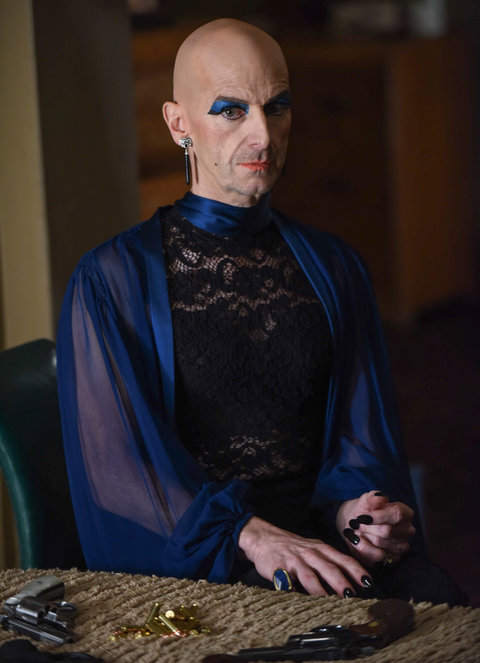 AMERICAN HORROR STORY --  Battle Royale  Episode 511 (Airs Wednesday, January 6, 10:00 pm/ep) Pictured: Denis O'Hare as Liz.  CR: Ray Mickshaw/FX