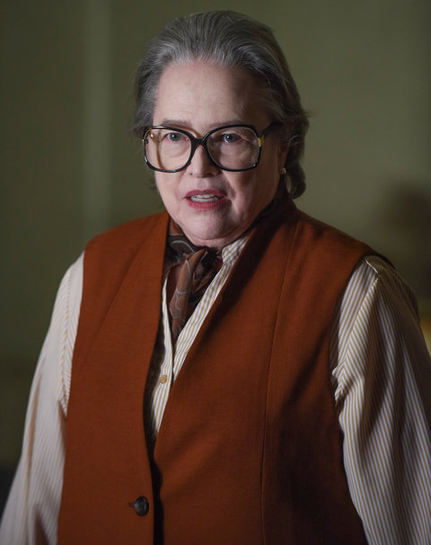 AMERICAN HORROR STORY --  Battle Royale  Episode 511 (Airs Wednesday, January 6, 10:00 pm/ep) Pictured:  Kathy Bates as Iris.  CR: Ray Mickshaw/FX