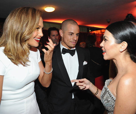 <p>Jennifer Lopez, Casper Smart, and Kourtney Kardashian</p>