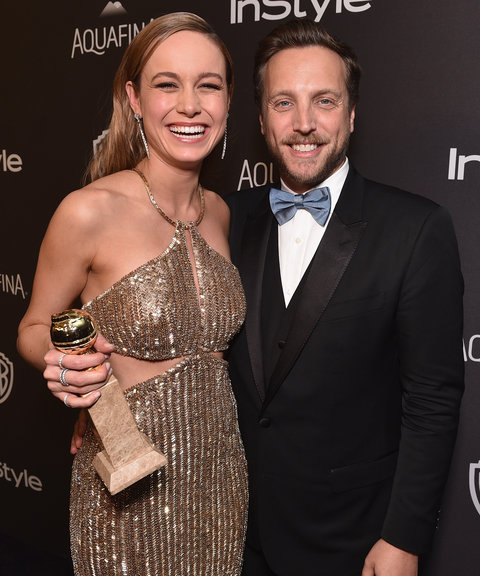 <p>Brie Larson and Ariel Foxman</p>