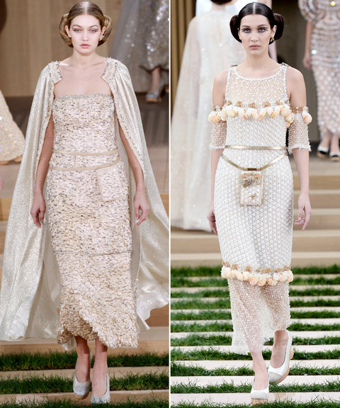 The Hadid Sisters Share the Chanel Runway