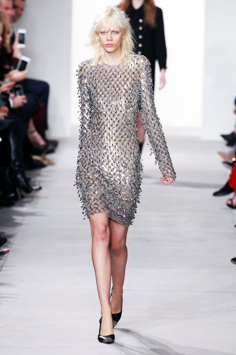 ff668bf9b19 Michael Kors' Silver Dress from the Fall 2016 Runway | InStyle.com