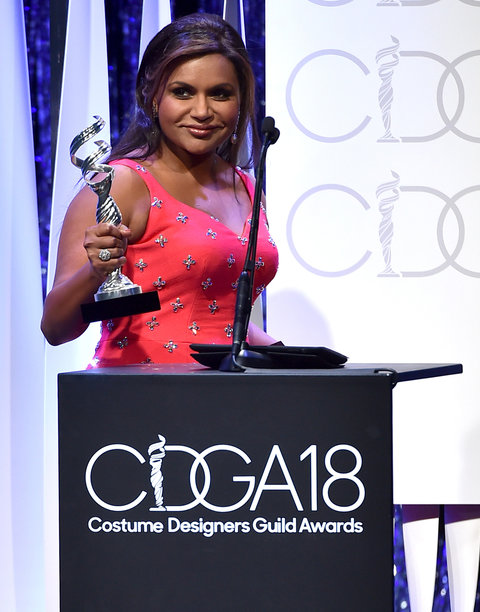 speaks onstage during the 18th Costume Designers Guild Awards with Presenting Sponsor LACOSTE at The Beverly Hilton Hotel on February 23, 2016 in Beverly Hills, California.